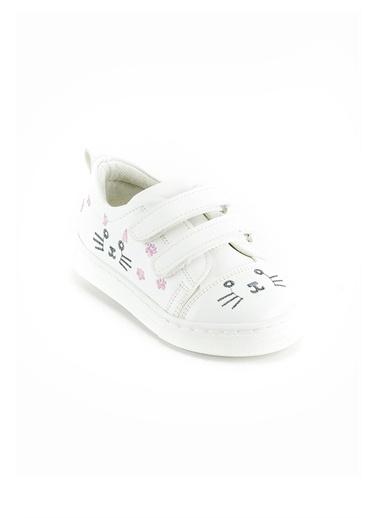 minipicco Minipicco Kız Cocuk Pudra Ortopedik Destekli Çocuk Ayakkabı Beyaz